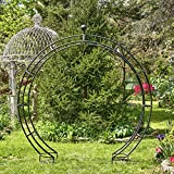 Zaer Ltd. Large Elegant Round Garden Arch Moon Gate
