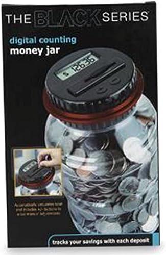 The schwarz series digital counting money jar (schwarz lid)
