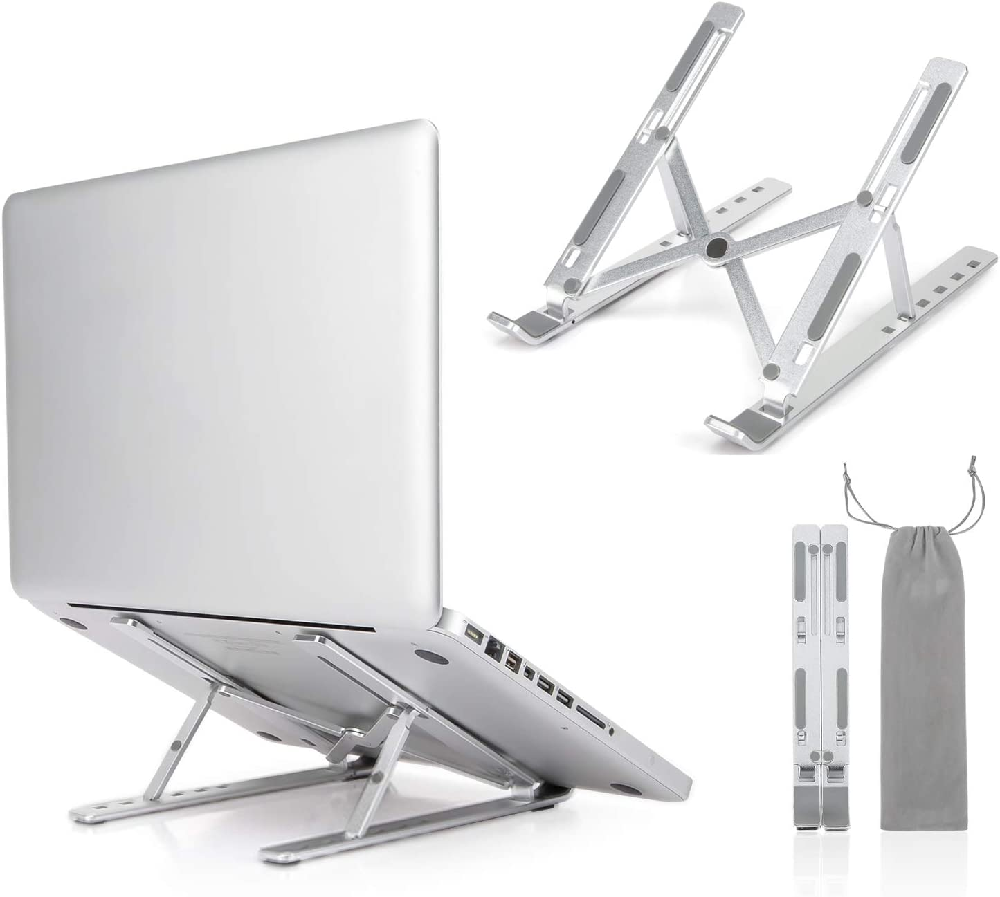 Foldable Laptop Safety and trust 1 year warranty Stand Portable Computer Adjustable Hol Aluminum