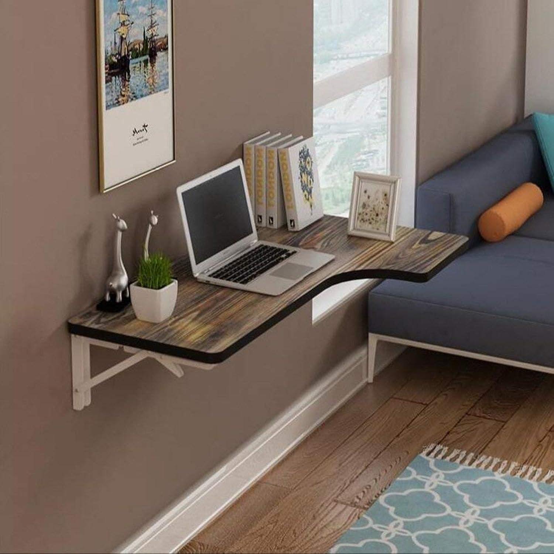 TJTG Wall Mount Folding Table Drop Leaf Dining Table Laptop Desk Workstation (5 colors Sizes) (color   Retro a, Size   80  40cm)