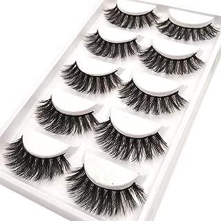 CerroQreen Eyelashes Thick Curly Fashion Lashes 5 Pairs 3D Mink Eyelashes Dramatic False Lashes (eyelashes -01)