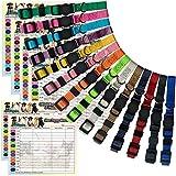 Chiot Colliers Lot de 14 - 14 Couleurs Collier chiot naissance - En nylon souple Collier ID d'Identification Réglable pour Chatons Chiots Petits animaux