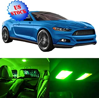 SCITOO Interior LED Lights Green Replacement for 2015-2017 Ford Mustang Accessories Package Kit 9Pcs