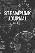 Steampunk Journal: Fantasy College Ruled Composition Diary | Blank Grimoire Lined Notebook | Vintage Victorian Black & Whi...