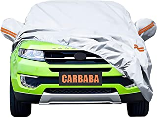 Universal Car Cover for SUV, Waterproof, Dustproof, Snowproof All Weather, Effectively Reduce Temperature Universal UV Waterproof Full Car Cover Outdoor Auto Sun Protection Covers (201