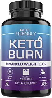 Keto Pills for Fat Burn - Weight Loss Supplement - Extra Strength goBHB Formula - Suppress Appetite and Block Carbs - 60 Capsules