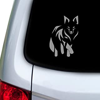 StickAny Car and Auto Decal Series Fox Tribal Sticker for Windows, Doors, Hoods (Silver)