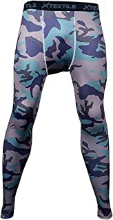 Xtextile Mens Camouflage Sports Compression Tight Leggings