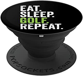 Eat Sleep Golf Repeat Golfing Tournament PopSockets Grip and Stand for Phones and Tablets