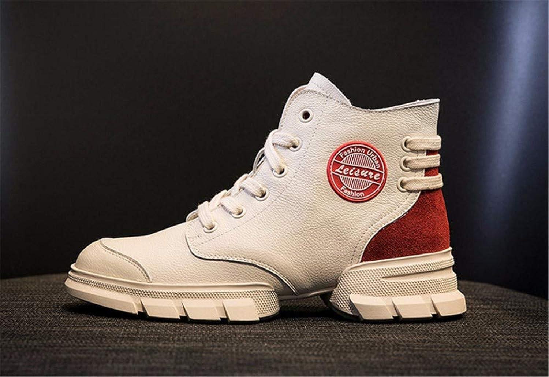 Xeb Outdoor-Kunstleder Reißverschluss Lackleder Paar Martin Stiefel  | Ausgang