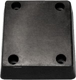R Model Rubber Molded Dock Bumper, Rectangular, 4 Holes, 13