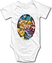 Ioagdaazz Playstation -Sly Cooper-Ratchet and Clank-Jak and Daxter Lovely Baby Onesies for Baby White 18M