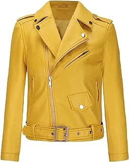 MogogoWomen Plus Size Leather Motorcycle Classic Punk Rock Jacket