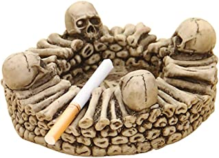 Skull Ashtray, Creative Practical Smoking Accessories Resin Skull Ashtray Home Office Halloween Decoration Ash Tray Person...