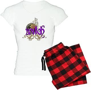 Witch Womens Novelty Cotton Pajama Set, Comfortable PJ Sleepwear
