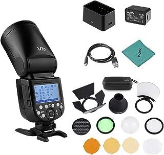 Godox V1C Flash de cámara Speedlite Speedlight Cabeza Redonda inalámbrica 2.4G Fresnel Zoom + Godox AK-R1 Kit de Accesorio...