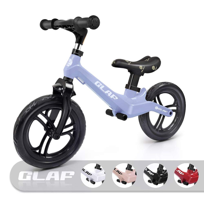 Glaf 12インチ キッズバランスバイク ペダルなし 自転車 ウォーキング自転車 軽量バランスバイク 子供 幼児 調節可能なハンドルバー シートバランスバイク 対象年齢17ヶ月~5歳