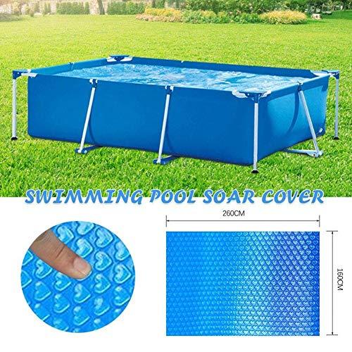 Cubierta Solar Ovalada/Rectangular Azul de 4 pies por 15 pies | Manta de Lona Solar térmica para Piscinas enterradas y elevadas | Use el Sol para Calentar el Agua de la Piscina