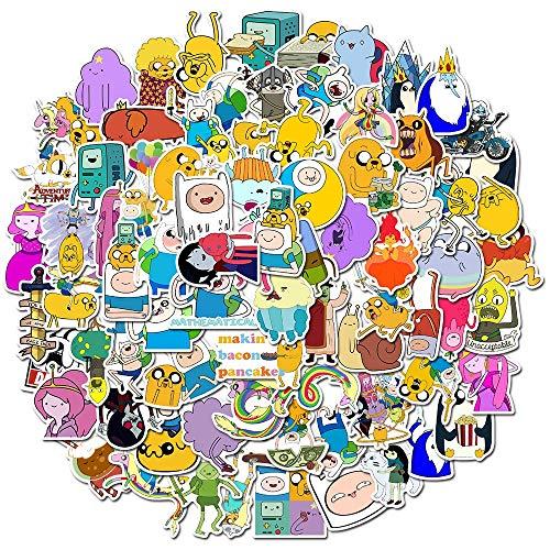 BLOUR 10/30/50 Uds Hora de Aventura con Tiempo Dibujos Animados animación Equipaje Scooter portátil refrigerador Graffiti Pegatina decoración al por Mayor