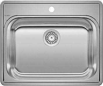 Blanco Stainless Steel 441078 Essential Drop In Utility Laundry Sink 25 X 22 Single Bowl Sinks Amazon Com