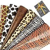 6 hojas Papel de Regalo 50×70cm Pintas de Animales para Envolver Regalos Cumpleaños Fiesta Manualidades Bricolaje DIY