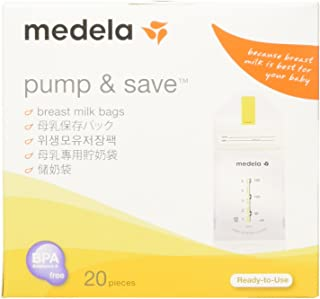 Medela Pump & Save Breastmilk Bags - Set of 20