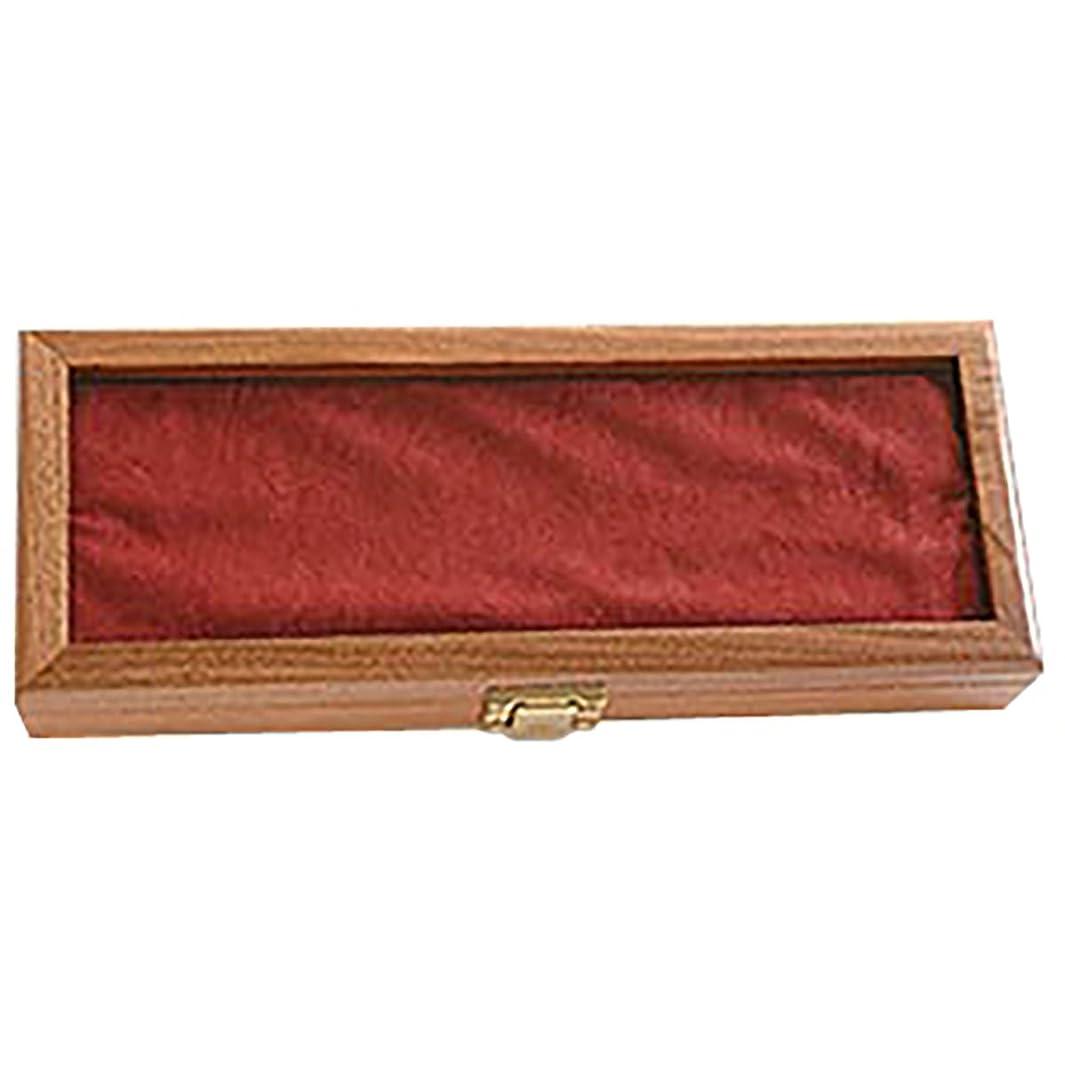 Ka-Bar Walnut Knife Display Case Glass Top