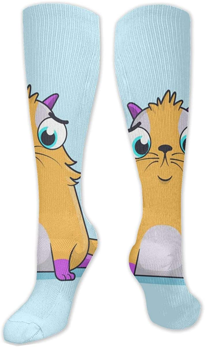 Cute Cartoon Squirrel Knee High Socks Leg Warmer Dresses Long Boot Stockings For Womens Cosplay Daily Wear