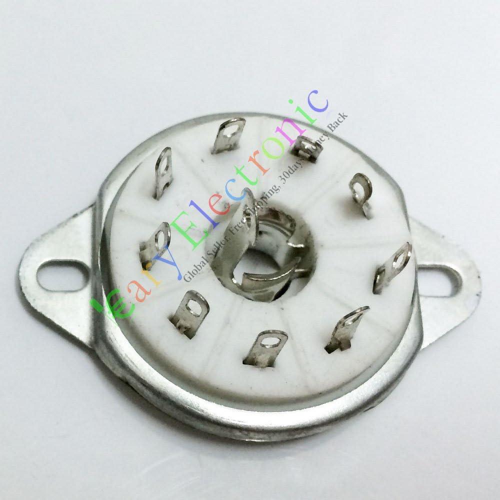 4pc 9pin Ceramic Japan's largest assortment vacuum tube socket EF50 a EF55 EC52 value EFF51 Classic