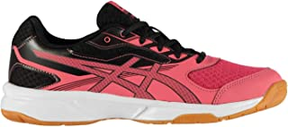 Official Brand Asics Upcourt 2 GS Indoor Court Shoes Junior Boys Red/Black Sneakers Footwear