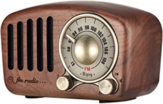 SODIAL Vintage Radio Retro Bluetooth Speaker - Walnut Wooden Fm Radio, Strong Bass Enhancement, Loud Volume, Bluetooth 4.2 Aux Tf Card Mp3 Player