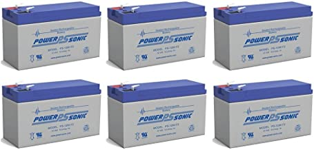 Power-Sonic 12V 9AH Battery Replaces Agri-Alert 800 / 800T Alarm System - 6 Pack