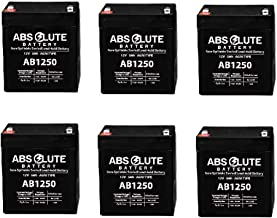 6PK AB1250 12V 5AH SLA Battery Replaces Genesis Datasafe NPX-25TFR, 12HX25T-FR