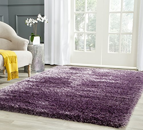 SAFAVIEH Charlotte Shag Collection SGC720L Non-Shedding Living Room Bedroom Dining Room Entryway Plush 2-inch Thick Area Rug, 5'1' x 7'6', Lavender