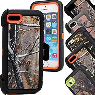 iphone 5c Case,5c Cases,Huaxia Datacom Realtree Design Hybrid Impact Protective Military Hybrid Impact Case with Holster Belt Clip for iPhone 5c