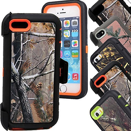 Huaxia Datacom iPhone 5c Case,5c Cases, Realtree Design Hybrid Impact Protective Military Hybrid Impact Case with Holster Belt Clip for iPhone 5c