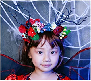 XLEIYI Christmas headdress moose headband female cute child Sen antlers headband bride photo dress up props Sen headband (Style : C)