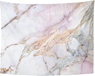 Emvency Tapestry Pink White Marble Pattern with High Resolution Gray Black Home Decor Wall Hanging for Living Room Bedroom Dorm 60x80 Inches