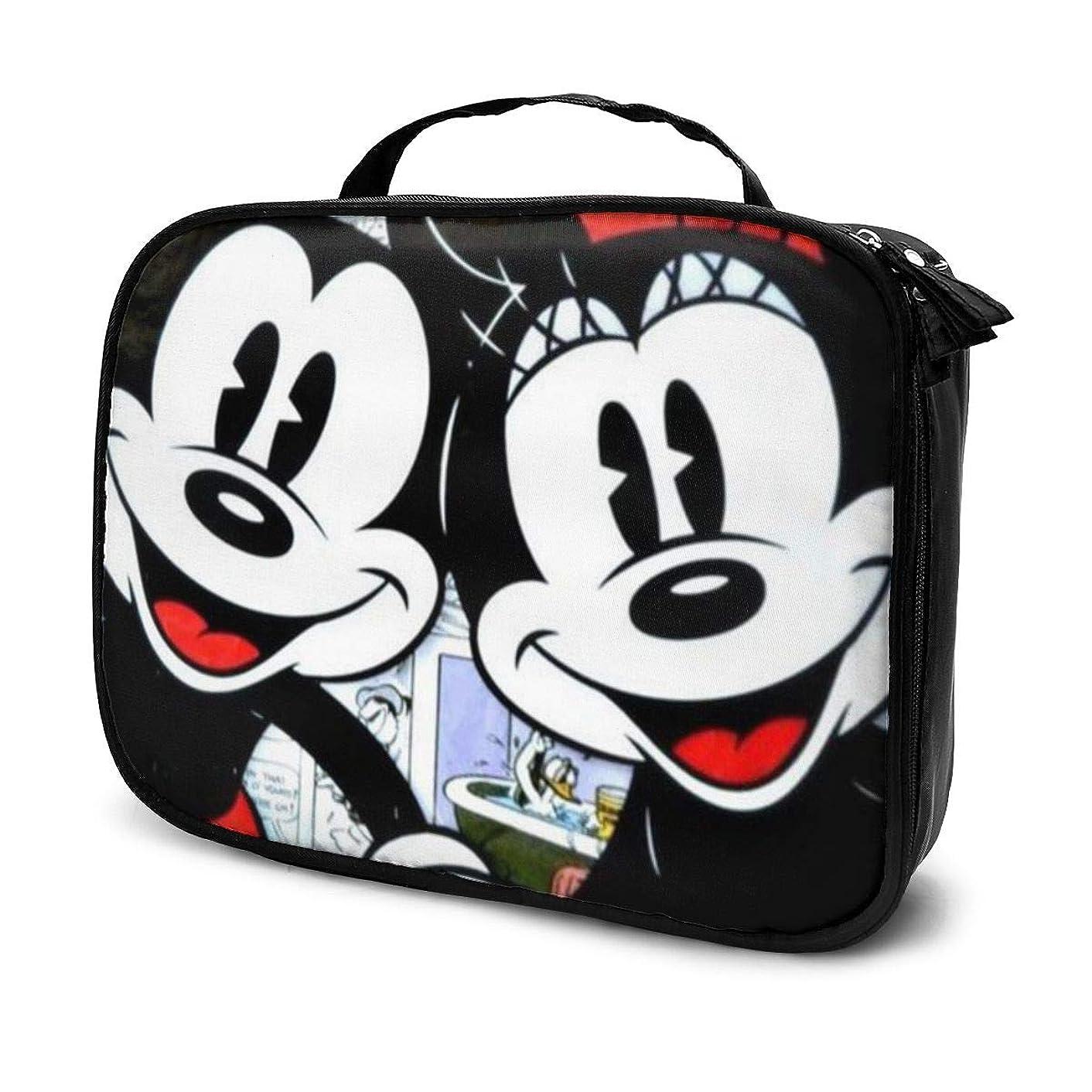 承知しました失望させる魅了するDaituラブミッキーミニー 化粧品袋の女性旅行バッグ収納大容量防水アクセサリー旅行