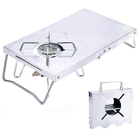 Rmete 遮熱テーブル SOTO ST-310 イワタニ 遮熱板 二つ折れ シングルバーナー テーブル 一台多役 折り畳み ステンレス製 コンパクト 専用収納袋付き MT-ZD001