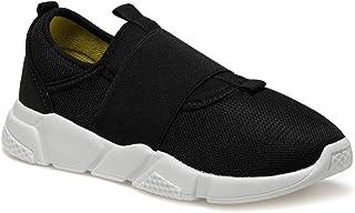 CS20030 Siyah Kadın Slip On Ayakkabı