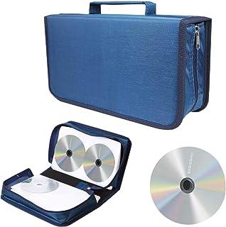 liuer Estuche Porta CD para CD/DVD/BLU-Rays de 128 Disco Almacenamiento CD DVD Funda Protectora para Coche Oficina Sala de...