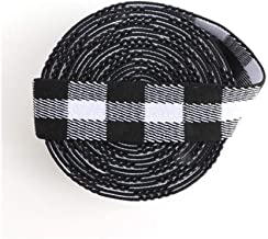 HMYDZ 2,5 Cm Rubber Band Red Printing 25 Mm Elastic Gift Decoration Craft 1 Meter (Color : Black white gray, Size : 1M)