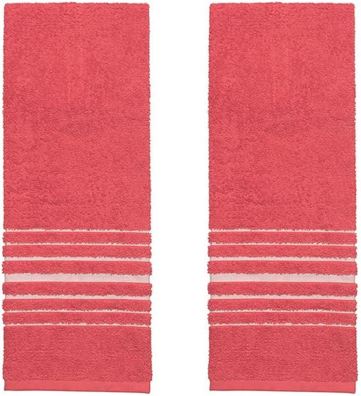 Now Designs Limited time trial price Hang Up Kitchen Red Year-end gift Two Towels Set of
