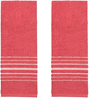 Now Designs Hang Up Kitchen Towels, Set of Two, Red