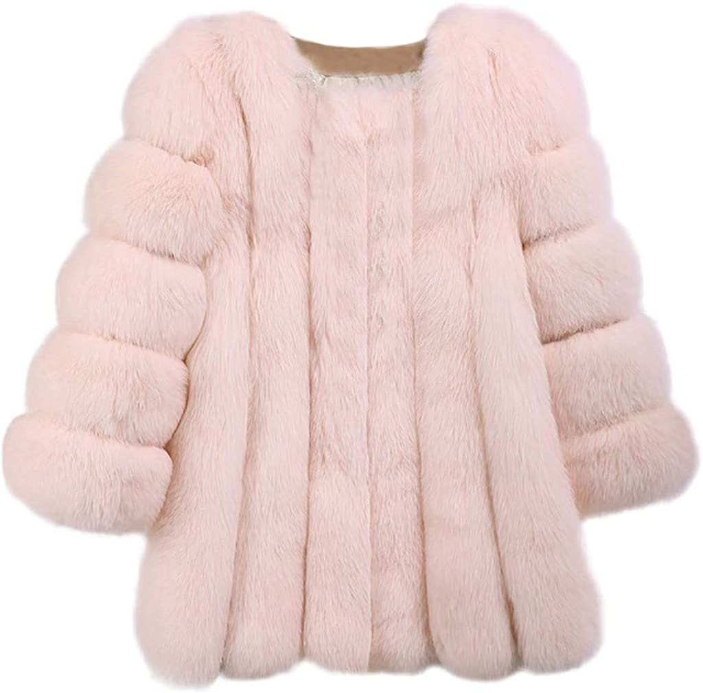 Kulywon Women 2021 spring and summer new Plus Size Short Faux Warm S Coat Long Furry Jacket Direct sale of manufacturer