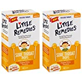 Little Remedies Sore Throat Pops made with Real Honey | 10-Lollipops per Pack | 2-Pack