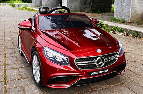 RC Auto kaufen Kinderauto Bild: Mercedes-Benz S63 AMG Cabriolet Ride-On 12V Elektro Kinderauto Kinderfahrzeug Kinder Elektroauto (ROT PAINT)*
