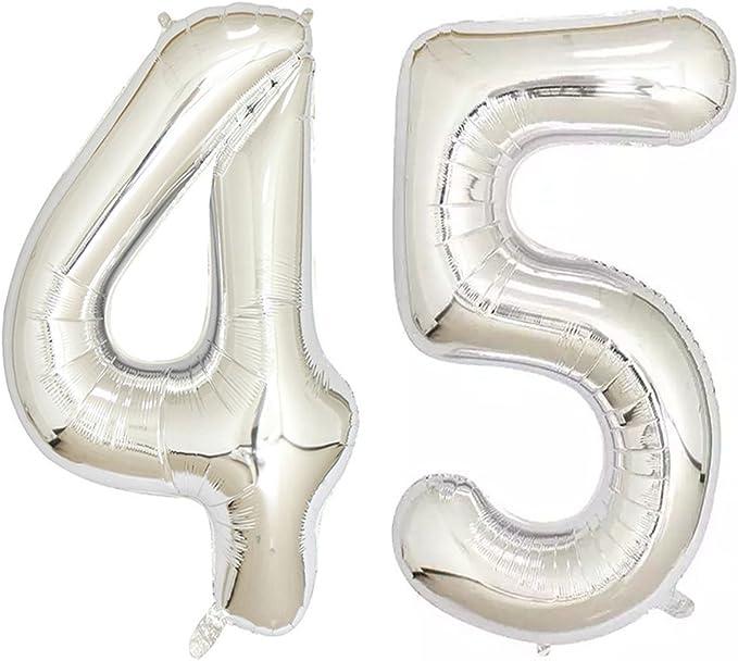 eko Zahl 45 Geburtstag Jubiläum rosegold metallic 20 Teile data-mtsrclang=en-US href=# onclick=return false; show original title Details about  /86cm Foil Balloon Decoration Number 45 Birthday Anniversary Rosegold Metallic 20 Parts