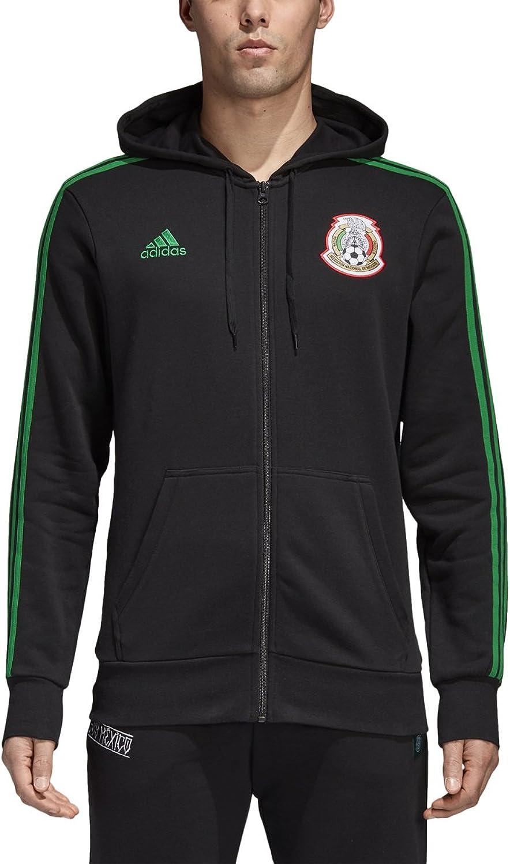 Adidas Men's Soccer Mexico 3 Stripes Full Zip Hoodie